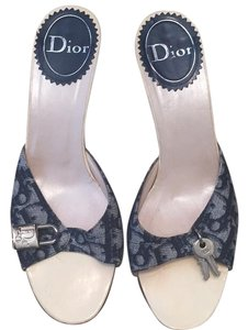 Dior Navy Blue & Cream Pumps