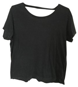 Truly Madly Deeply Open Back T Shirt Charcoal