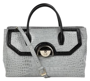 Roberto Cavalli New Collection Leather Satchel in grey