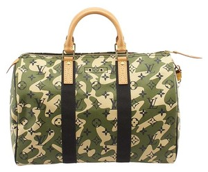Louis Vuitton Speedy 35 Camouflage Monogram Coated Canvas Tote in Multi-Color