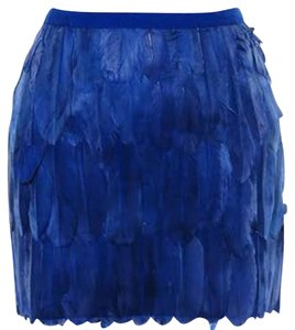 Wow Couture Mini Skirt Blue