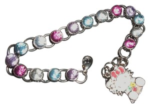 Sanrio Authenic Sario Hello Kitty rinestone/charm bracelet