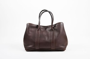 Hermès Swift Leather Bolduc Twilly Lining Garden Party Tpm Tote in Brown