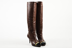 Givenchy Leather Patent Brown Boots