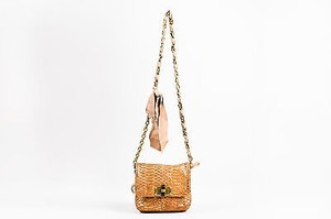 Lanvin Blush Gold Tone Shoulder Bag