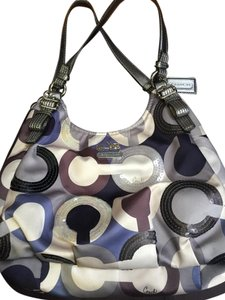 Coach Sequin Op Art Multicolor Shoulder Bag