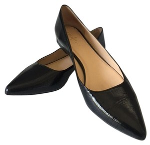 Cole Haan Patent Pointed Toe black Flats
