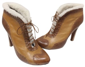 Alexander McQueen Fur Sheepskin Ankle Skull Winter Boots