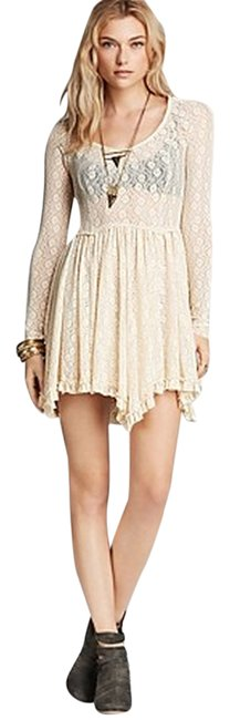 Free People short dress Tea Star Lace Witchy Slip Heavy Lace on Tradesy