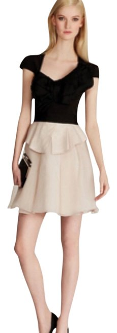 Karen Millen Constructed Bow Ivory Open Knee Length Organza Bridal Coco Chanel Dress
