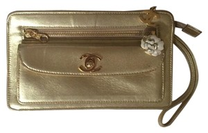 64dd9299e5719 Gold Leather Chanel Wristlets - Up to 70% off at Tradesy