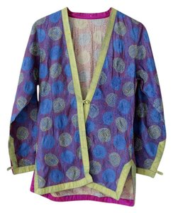 Other Embroidered Reversible India Boho Bohemian Blue Blazer