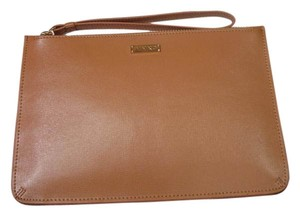 Pinko Clutch Leather Wristlet in Tan