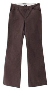 Gap Stretch Flare Leg Chino Trouser Pants Brown