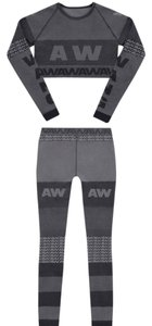Alexander Wang Tights Crop To Top Gray
