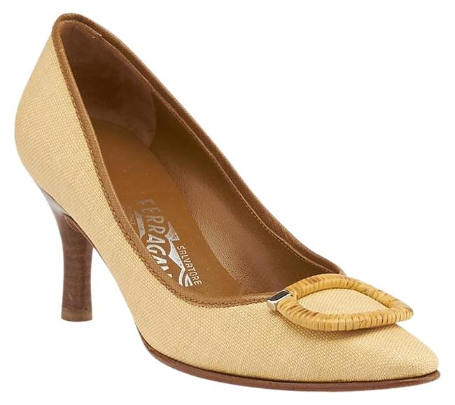 Item - Tan & Brown Amy Canvas (84538) Formal Shoes Size US 7