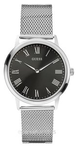 Guess Guess W0406G1 Men's wafer Silver Analog Watch