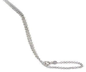 Other Silver Rhodium Plate Thin Chain Link Necklace