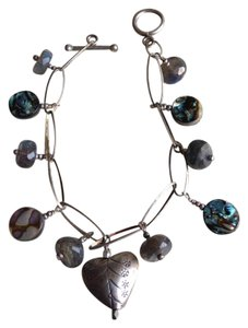 Other Sterling Silver heart and labradorite bracelet