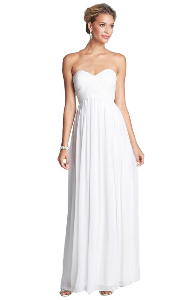 Donna Morgan Ivory \'laura\' Ruched Sweetheart Silk Chiffon Gown ...