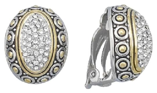 Other Rhodium and 14 Karat Gold Plated CZ Clip-On Earrings
