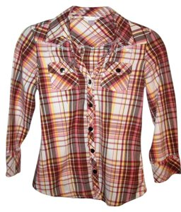 Arizona Junior Button Down Shirt Plaid