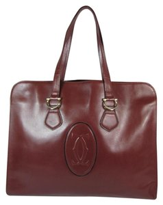 Cartier Leather Medium Computer Tablet Tote