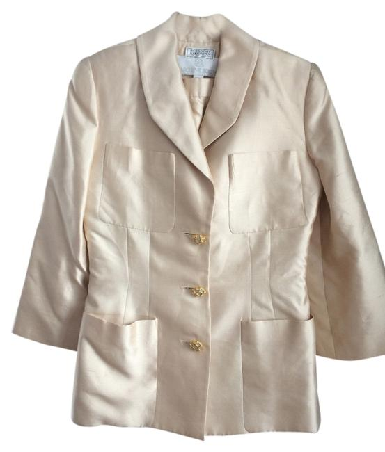 Carolyne Roehm Mother of the Bride Ivory Silk Suit Bergdorf Goodman