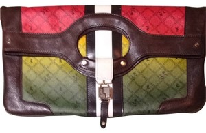 L.A.M.B. Rasta-red, yellow, green & Brown/white Clutch