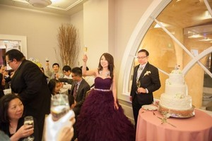 Maroon Evening Tulle Satin Ballgown In Maroon With Sparkle Belt Dress