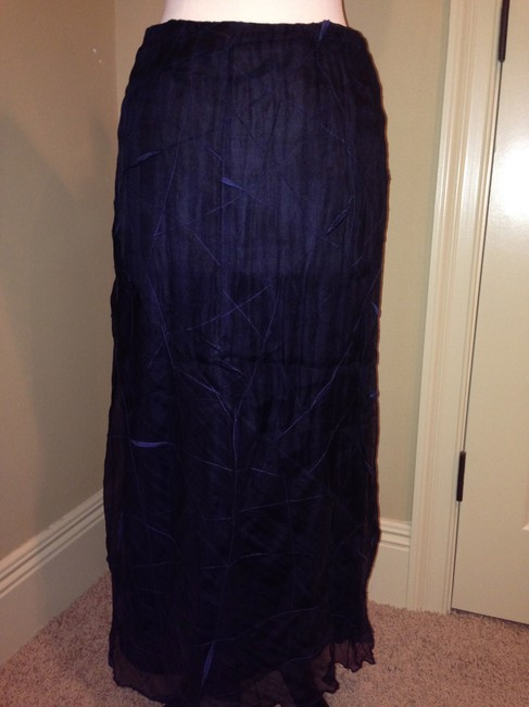 Philosophy di Alberta Ferretti Long Size 8 Maxi Skirt Blue