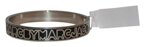 Marc by Marc Jacobs Marc by Marc Jacobs Silver and Black Logo Hinge Bracelet-Brand New