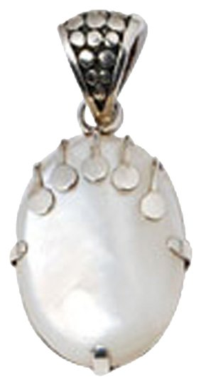 Island Silversmith Island Silversmith White Mother of Pearl 925 Sterling Silver Pendant 0801R *FREE SHIPPING*