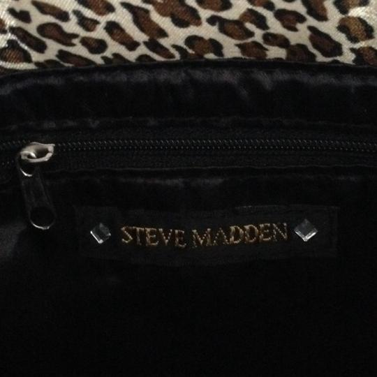 Steve Madden Accessories Magnetic Satin Designer Animal Print Leopard Clutch