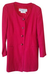 Byblos Vis A Vis Vintage Made In Italy Linen Red Jacket