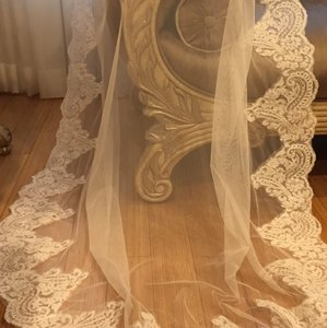Off White Long Bridal Veil
