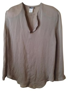 Giorgio Armani Shirt Silk Made In Italy Vintage Top Gray