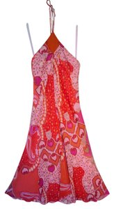 Pink and Red Print Maxi Dress by Banana Republic Evening Party Summer