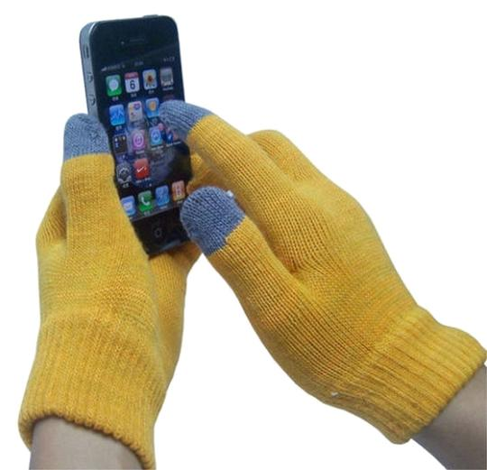 Other Yellow - 14 Colors Magic Touch Screen Gloves Smartphone Texting Stretch Winter Knit Warm