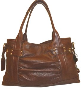 B. Makowsky Refurbished Leather Lined Ex-lg Multi Pocket Shoulder Bag
