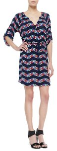 Shoshanna short dress Multi Color Knit Chevron Drawstring Usa on Tradesy