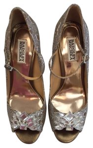 Badgley Mischka Peep Toe Pumps Evening Go Out bronze multi Formal