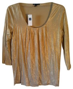 Gap Xs New Holiday Club Top Gold metallic