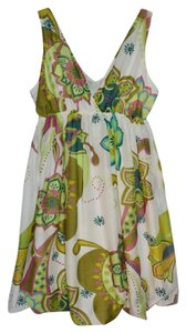 Anthropologie short dress Green Print Cotton Summer on Tradesy