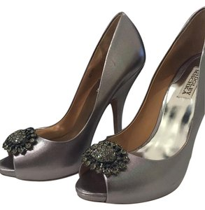 Badgley Mischka Pewter Leather Lissa Bronze multi Formal