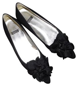 Costa Blanca Pointed Ballet Low Heel Black Flats
