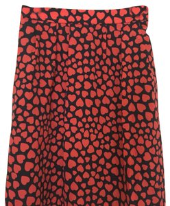 J.Crew Mini Skirt Black with red accents