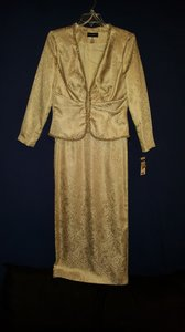 Cachet Gold Metallic Dress