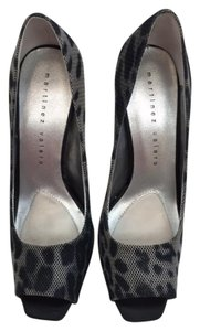 Martinez Valero High Heel Peep Toe Animal Print black tiger Pumps