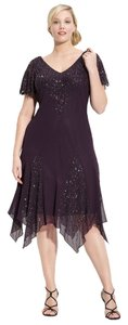 J Kara Plus Size 14w 1x Beaded Dress
